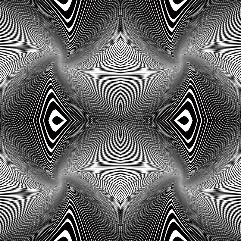 Whirly alinea el fondo del vector. ilustración del vector