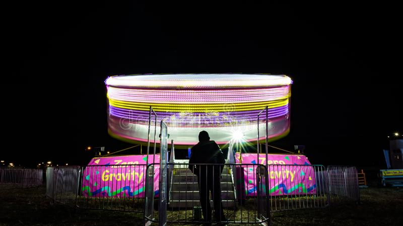 Whirly karnevalritt i Texas royaltyfri bild