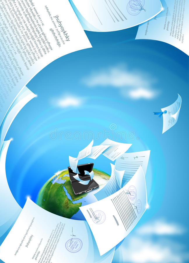 Download Whirpool Of Documents stock illustration. Illustration of planet - 12597455