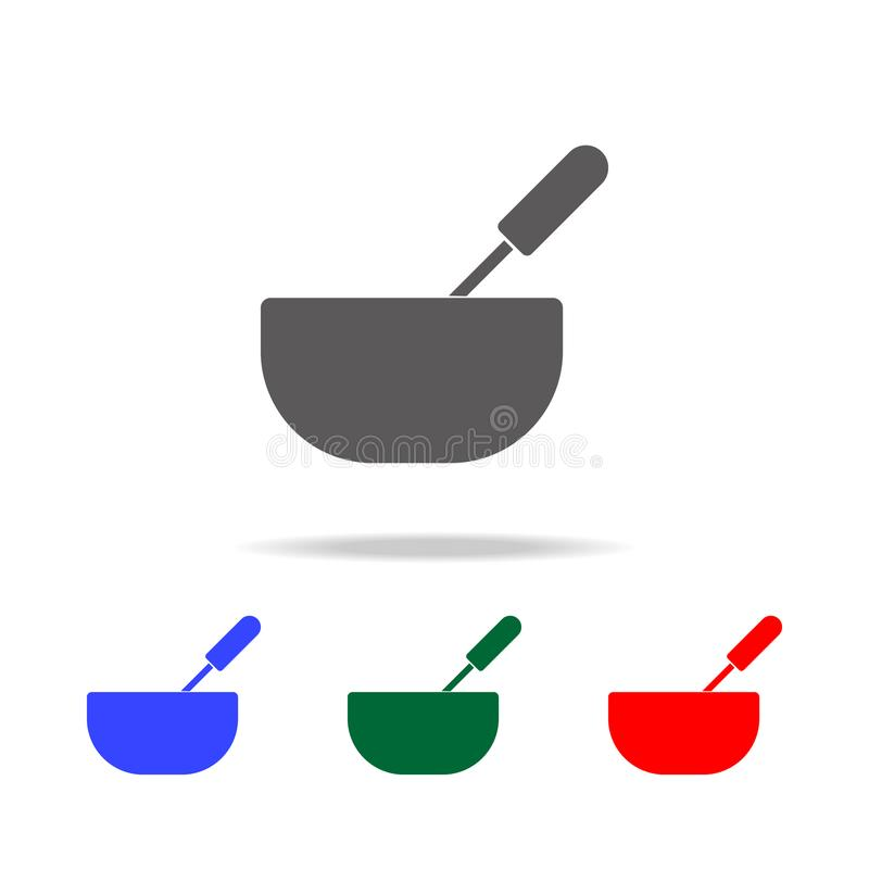 Whisk and bowl or mixing icon. Elements of cooking multi colored icons. Premium quality graphic design icon. Simple icon for websi. Tes, web design, mobile app vector illustration