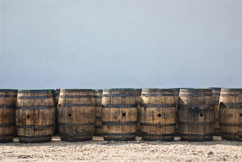 Whiskey barrels royalty free stock image