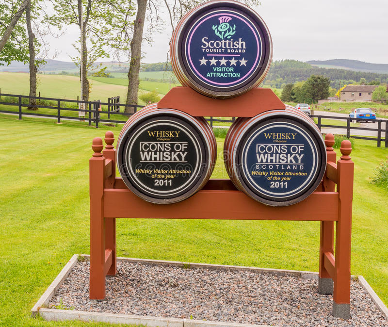 Whiskey barrels royalty free stock images