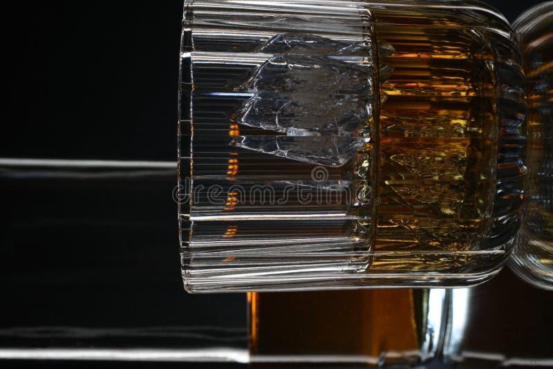 Whiskey Bottle & Glass Stock Images