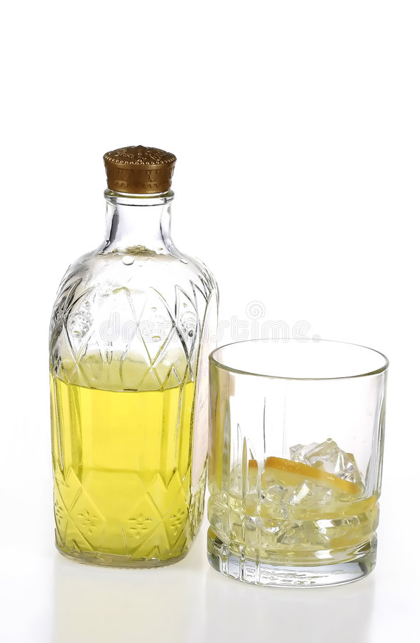 Download Whiskey bottle and glass stock photo. Image of intoxicant - 1959380