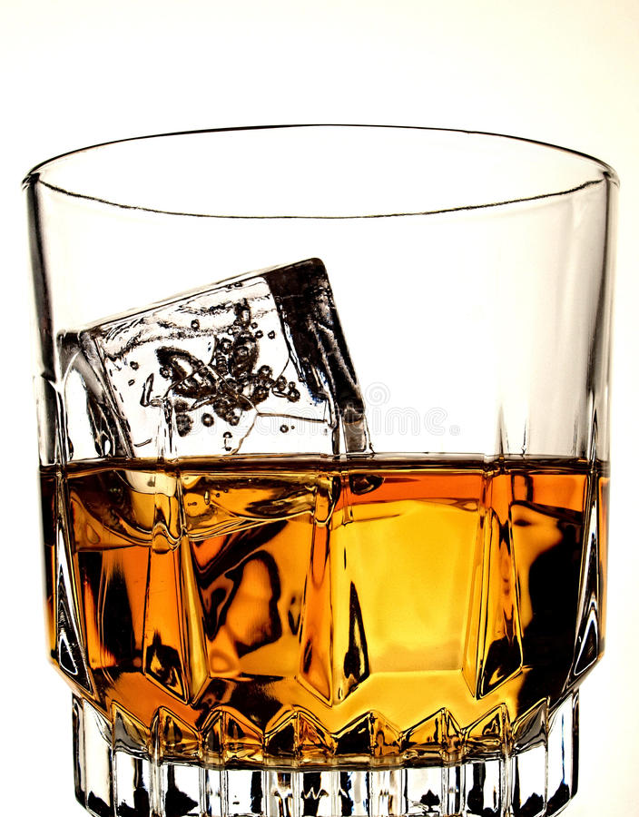 Whiskey Bottle & Glass Abstract