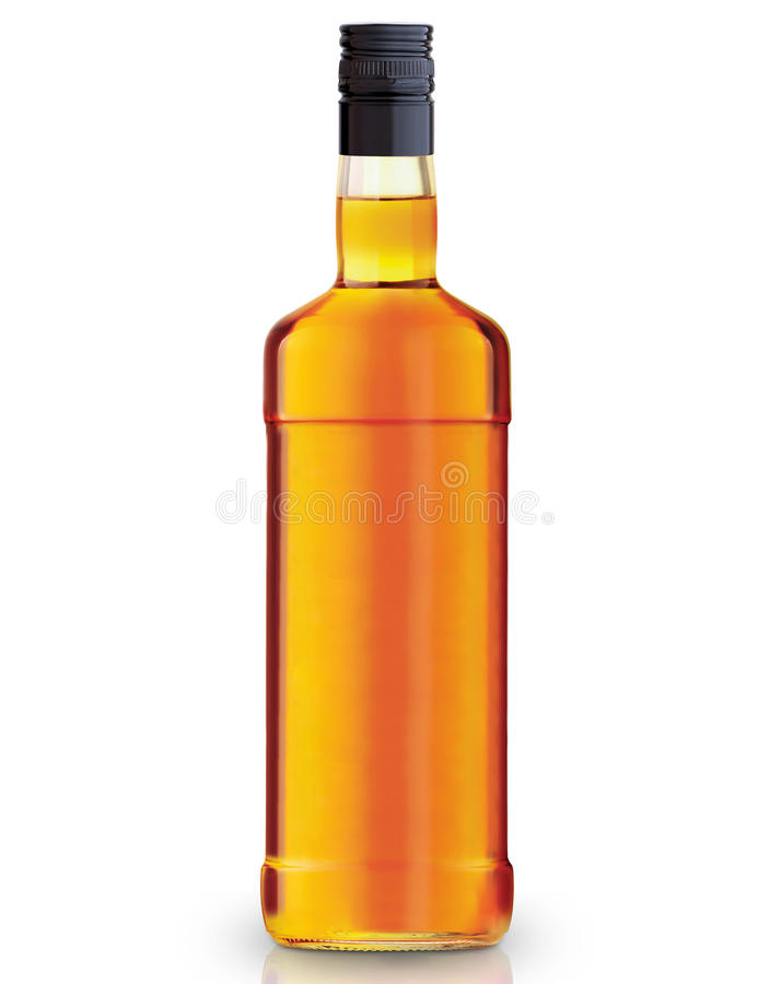 Whiskey bottle royalty free stock images