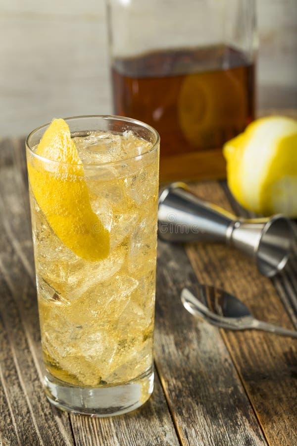 Whiskey casalingo Highball con il selz immagini stock libere da diritti