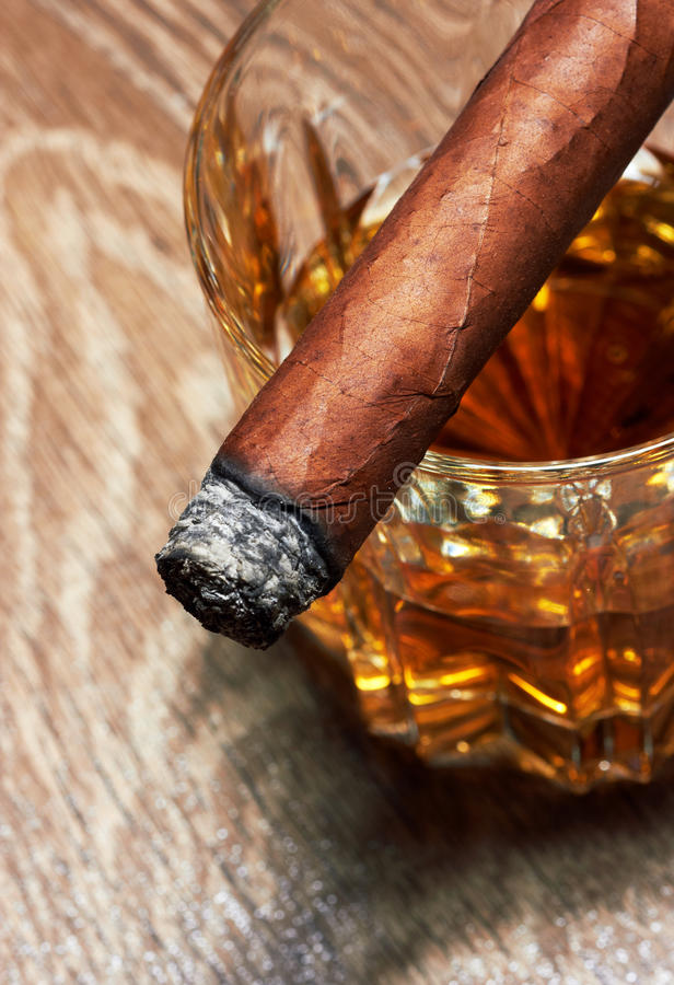 Download Whiskey And Cigar Stock Photography - Image: 30367482