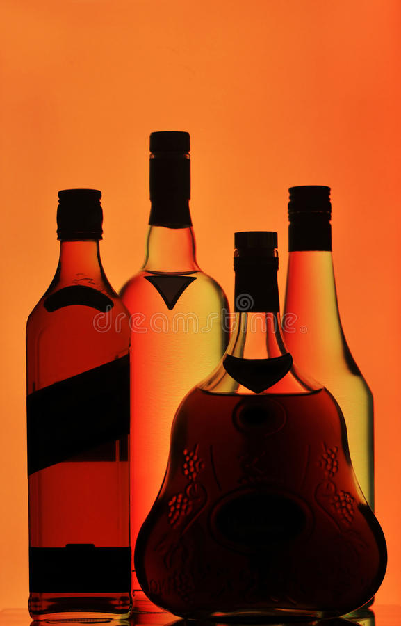 Free Whiskey, Cognac And Vodka Bottles Royalty Free Stock Photos - 18099568