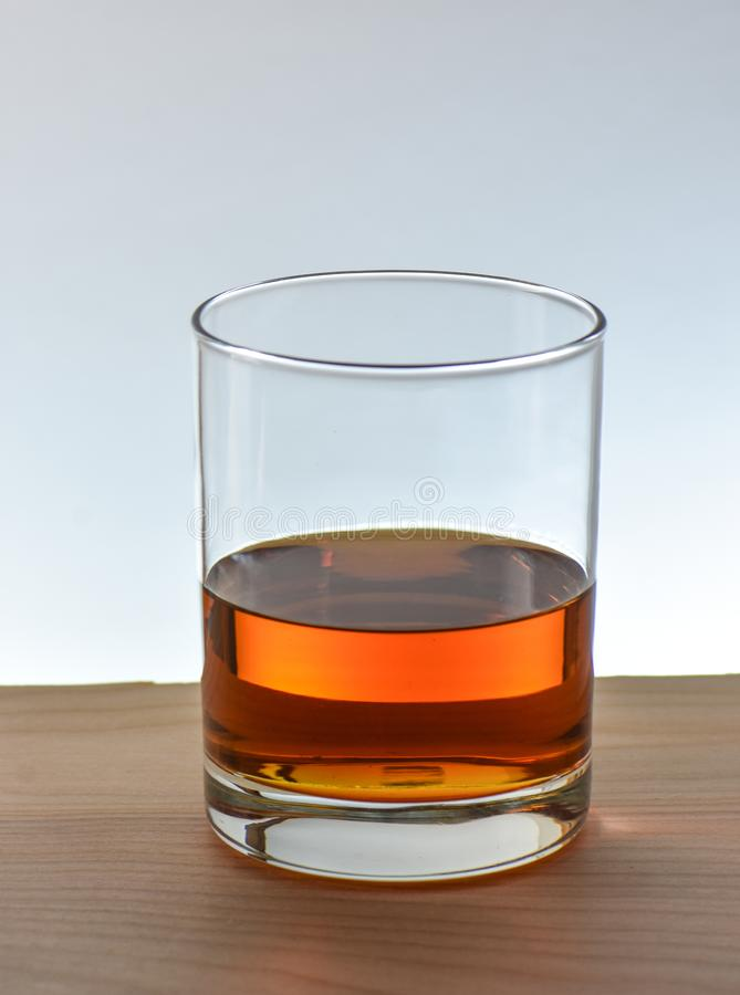 Whiskey de bourbon en verre photos stock