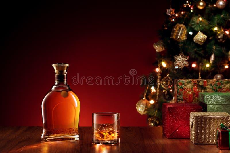 Whiskey de Noël photo libre de droits