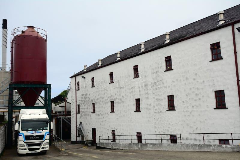Whiskey distillery, Bushmills, Northern Ireland. Whiskey distillery in Bushmills, Northern Ireland royalty free stock image