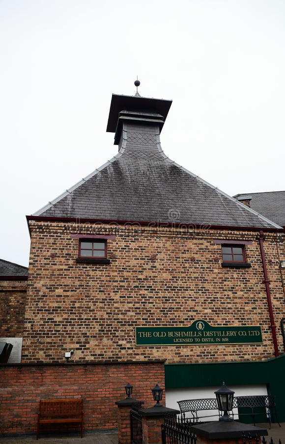 Whiskey distillery, Bushmills, Northern Ireland. Whiskey distillery in Bushmills, Northern Ireland royalty free stock photography