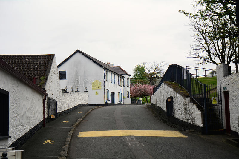 Whiskey distillery, Bushmills, Northern Ireland. Whiskey distillery in Bushmills, Northern Ireland stock photography