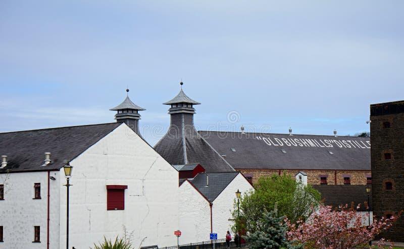 Whiskey distillery, Bushmills, Northern Ireland. Whiskey distillery in Bushmills, Northern Ireland stock photo
