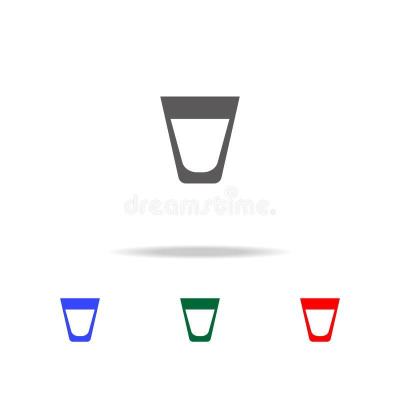 whiskey Glass enkel svart ätasymbol för skotsk whisky Beståndsdelar av mång- kulöra symboler för mat Högvärdig kvalitets- symbol  vektor illustrationer