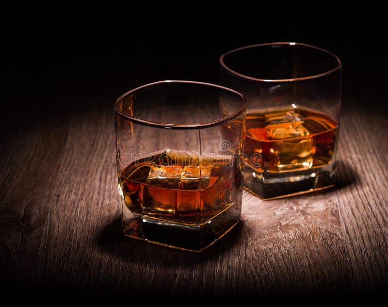 Whiskey In Glasses Stock Images