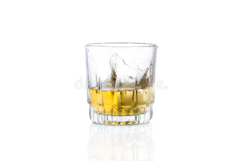 Whiskey med is royaltyfria foton