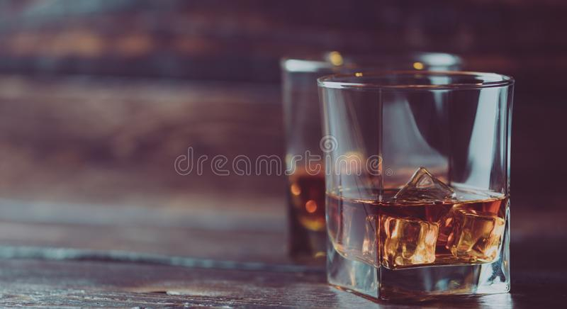 Whiskey, whiskey ou bourbon images libres de droits