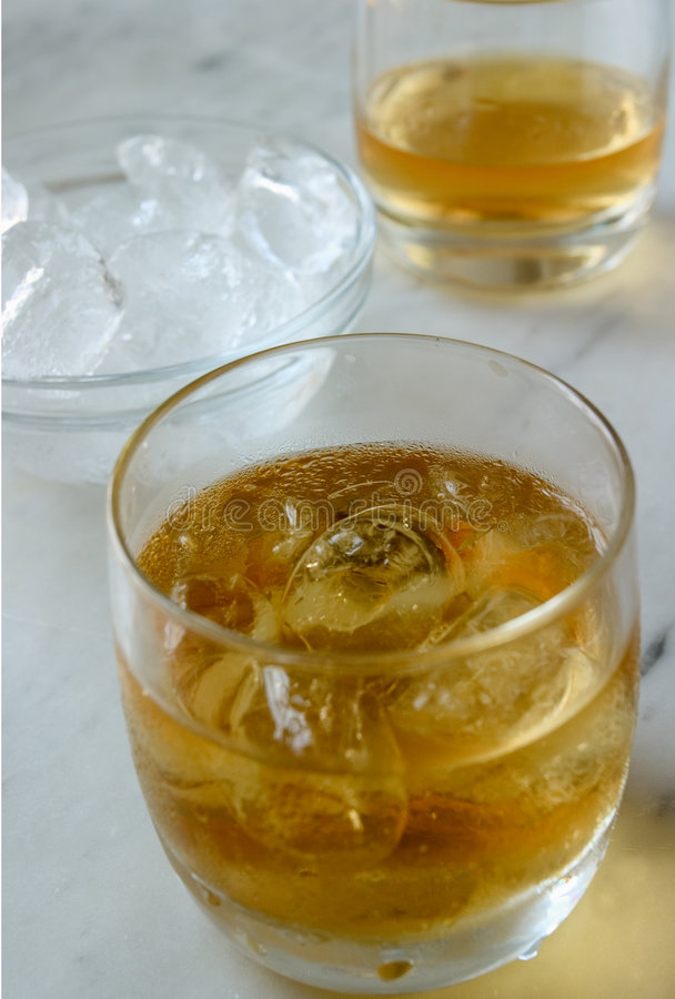 Whiskey on the rock royalty free stock images