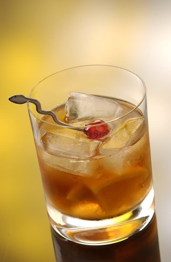 Whiskey on the rocks royalty free stock photo