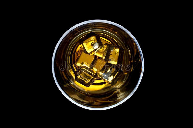 Download Whiskey on the rocks stock image. Image of drink, black - 26794697