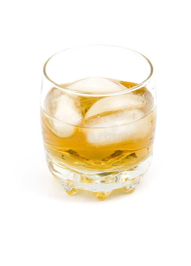 Whiskey on a rocks royalty free stock images