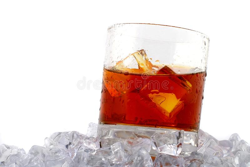 Whiskey on rocks royalty free stock photography