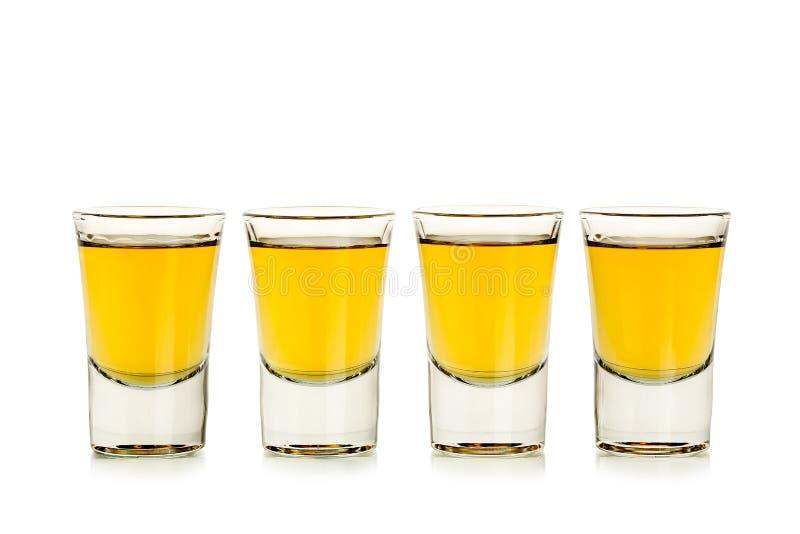 Whiskey shots stock image