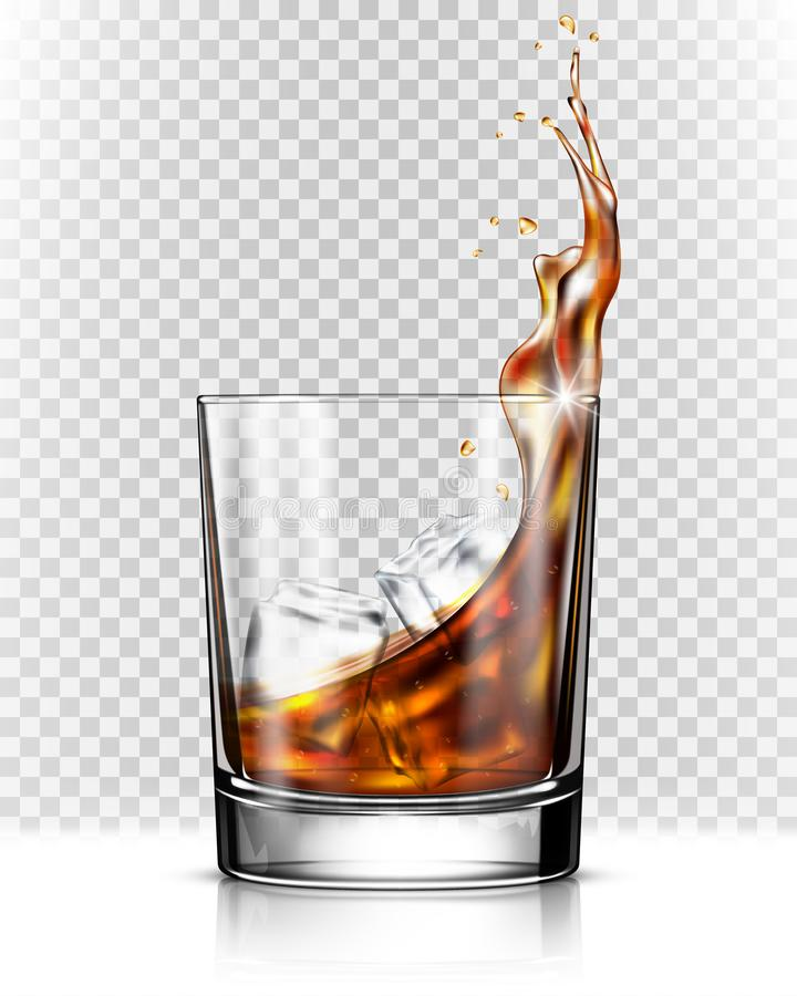 Free Whiskey Splash Out Of Glass Royalty Free Stock Photography - 125240607