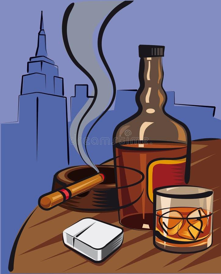 Whisky stock de ilustración