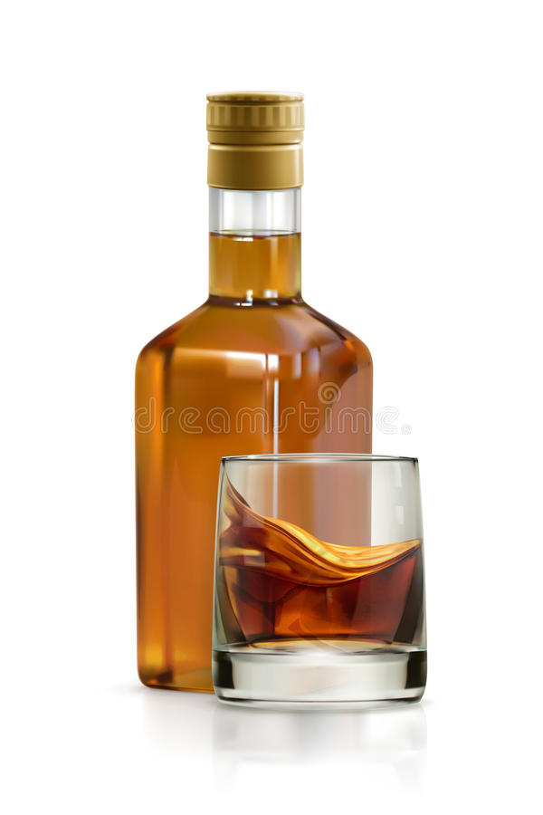 Whisky, alkoholu napój ilustracja wektor