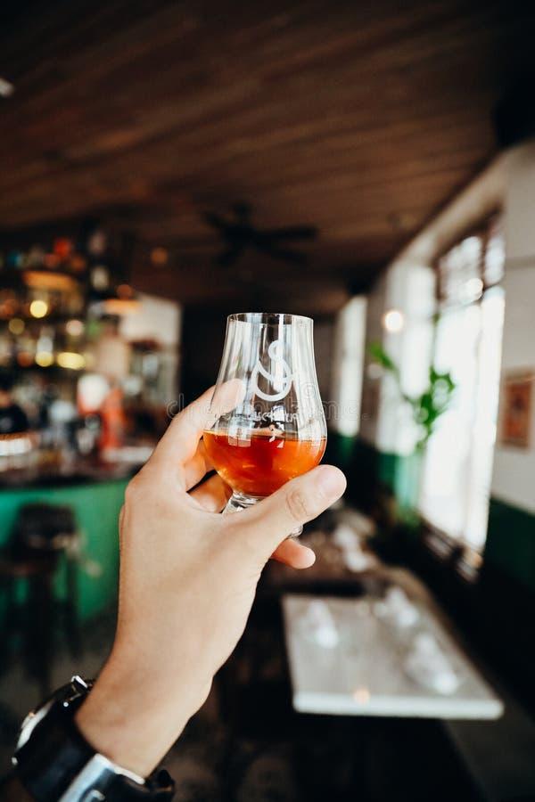 Whisky in bar Casco Viejo, Panama royalty-vrije stock afbeelding