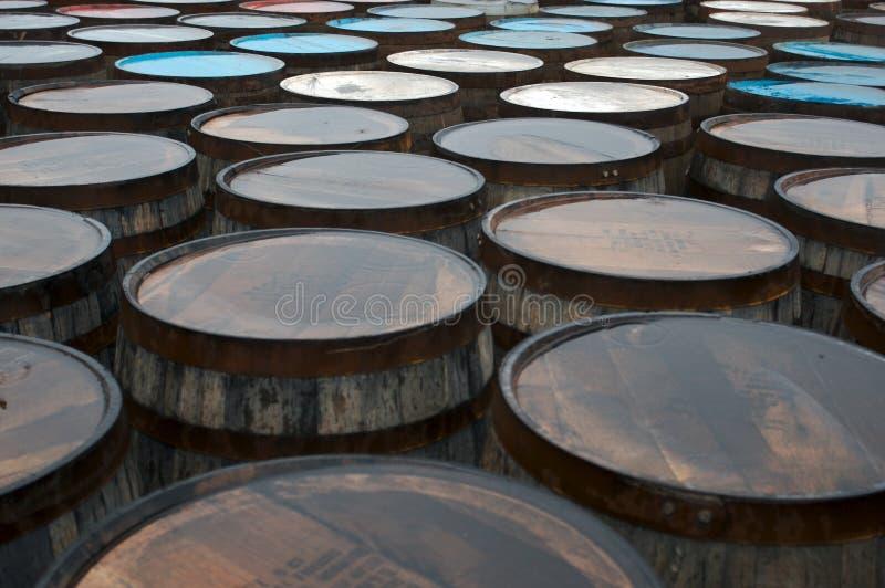 Whisky Barrels royalty free stock image
