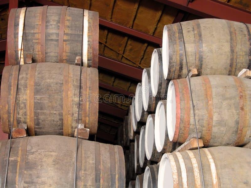 Whisky barrels royalty free stock photo
