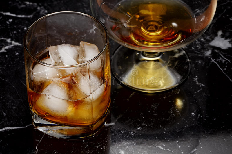 Download Whisky and brandy stock image. Image of drink, darkness - 22312973