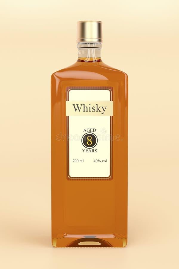Whisky butelka royalty ilustracja