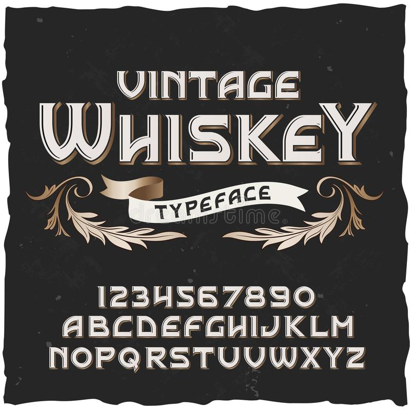 Download Whisky Carattere Dell'annata Di Vettore Illustrazione Vettoriale - Illustrazione di lettera, lettere: 117975401