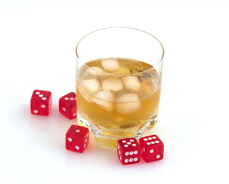 Download Whisky  and dice. stock photo. Image of render, lucky - 11543428
