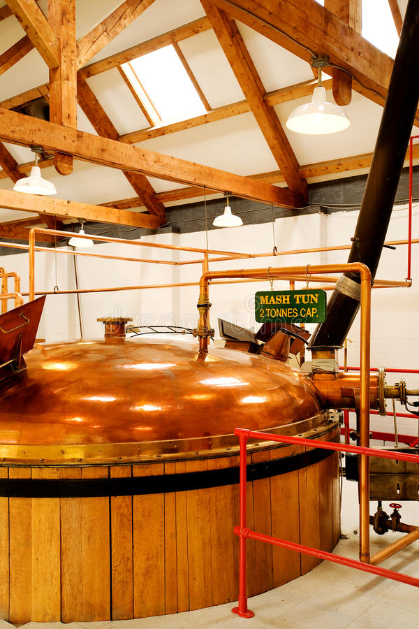 Whisky distillery. Interior of whisky distillery in Nova Scotia royalty free stock photo
