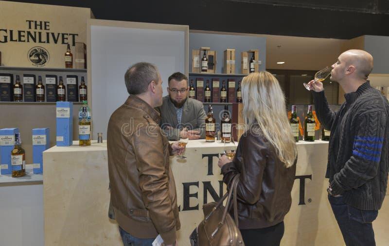 Whisky dram festiwal w Kijów, Ukraina fotografia stock