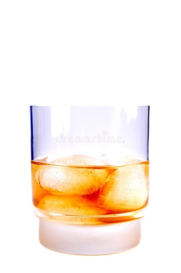 Whisky e ghiaccio fotografia stock