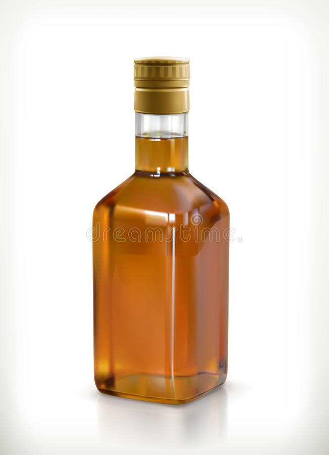 Whisky en el icono de la botella libre illustration