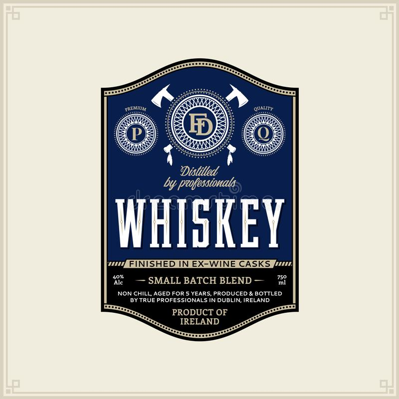 Whisky etykietki szablon ilustracja wektor
