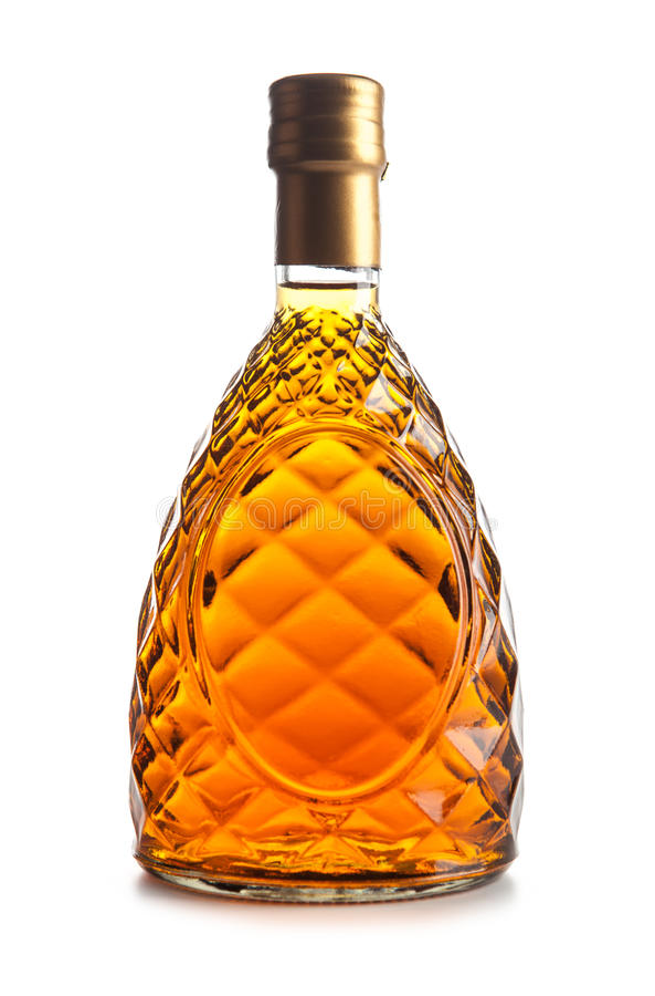 Whisky-Flasche lizenzfreie stockfotos