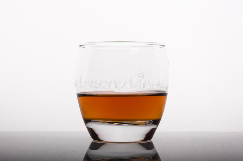 Whisky in the glass stock image