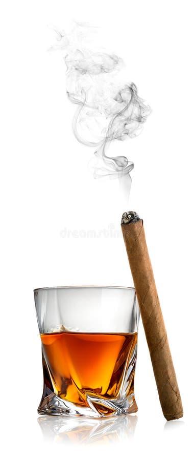 Whisky i cygaro fotografia royalty free