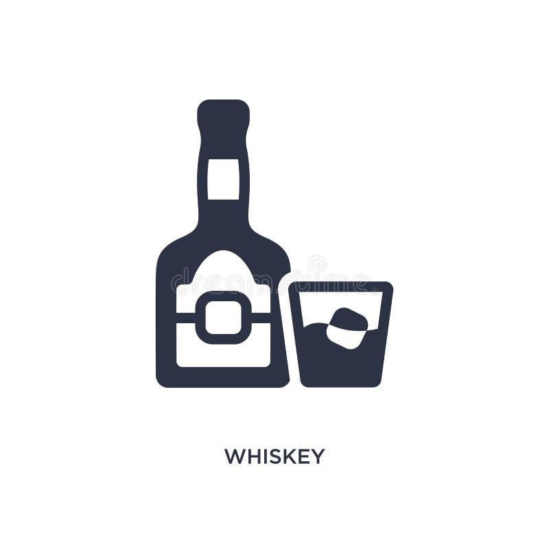 whisky ikona na białym tle Prosta element ilustracja od dzikiego zachodniego pojęcia ilustracja wektor
