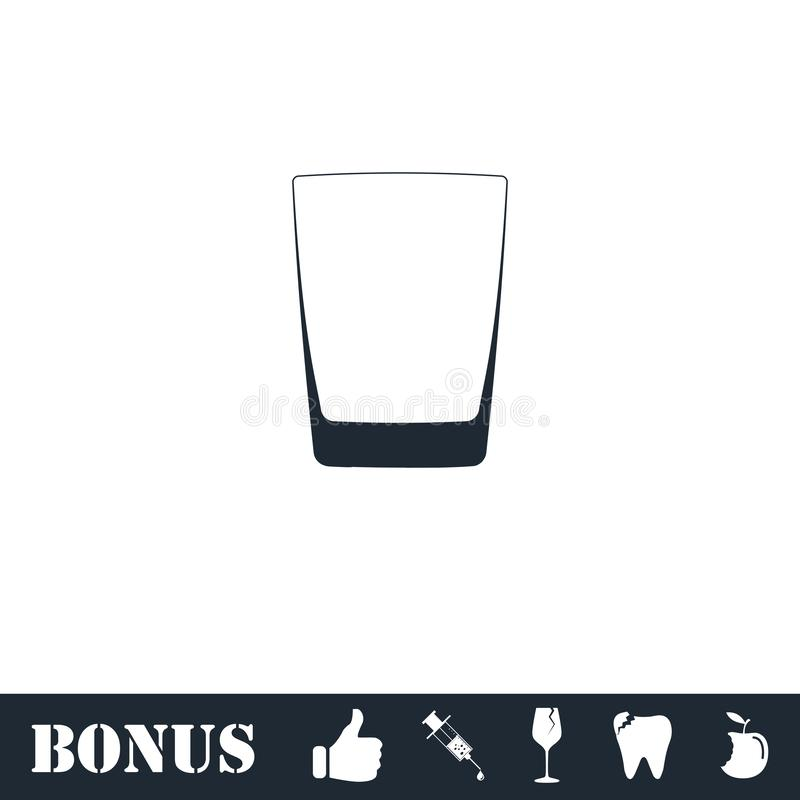 Whisky ikony szklany mieszkanie royalty ilustracja