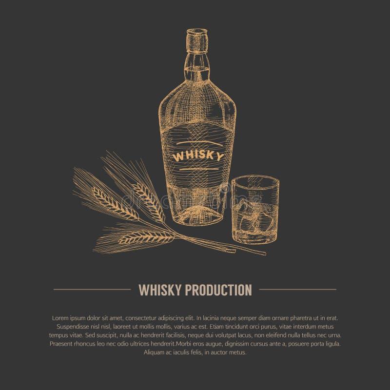 Whisky ilustracja ilustracji